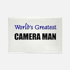 Worlds Greatest CAMERA MAN Rectangle Magnet