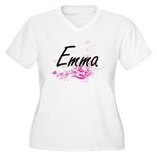 Emma Artistic Name Design with F Plus Size T-Shirt