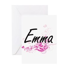 Emma Artistic Name Design with Flow Greeting Cards