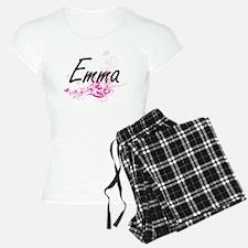 Emma Artistic Name Design w Pajamas