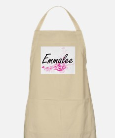 Emmalee Artistic Name Design with Flowers Apron