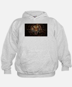 TIger on fire Hoodie