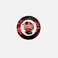 Mini Button With Pitmaster Fire Design
