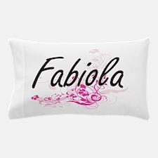 Fabiola Artistic Name Design with Flow Pillow Case
