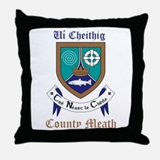 Ui Cheithig - County Meath Throw Pillow