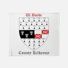Ui Buide - County Kilkenny Throw Blanket