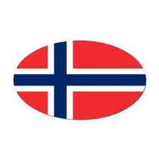 Norway Oval Car Magnet