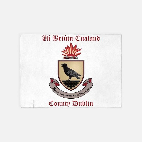 Ui Briuin Cualand - County Dublin 5'x7'Area Rug