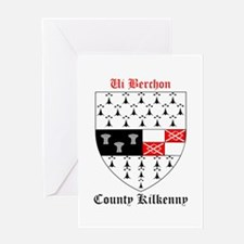 Ui Berchon - County Kilkenny Greeting Cards