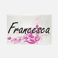 Francesca Artistic Name Design with Flower Magnets