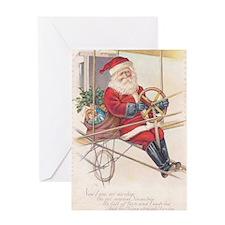 Vintage Santa Airship 1915 Greeting Card