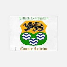 Tellach Cearbhallan - County Leitrim 5'x7'Area Rug