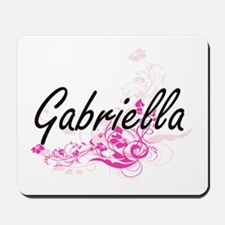 Gabriella Artistic Name Design with Flow Mousepad