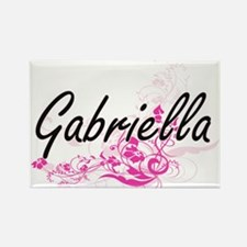 Gabriella Artistic Name Design with Flower Magnets