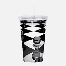 Chess Board Acrylic Double-wall Tumbler