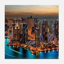 Dubai Skyline Tile Coaster
