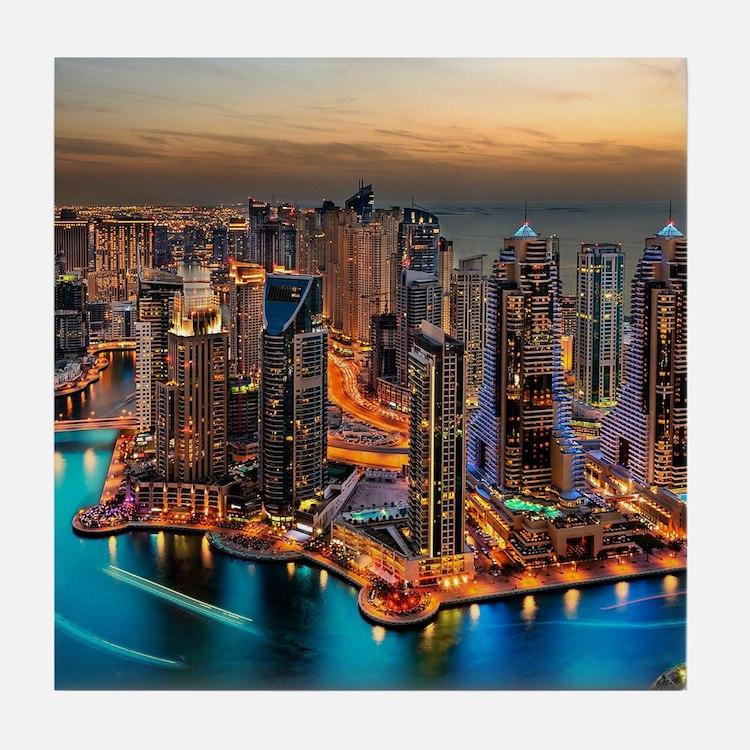 Dubai Skyline Tile Coaster