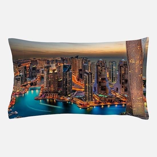 Dubai Skyline Pillow Case