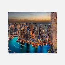 Dubai Skyline Throw Blanket
