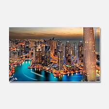 Dubai Skyline Car Magnet 20 x 12