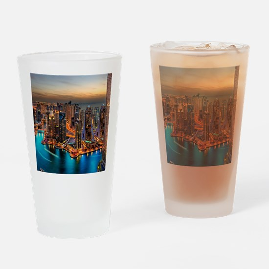 Dubai Skyline Drinking Glass