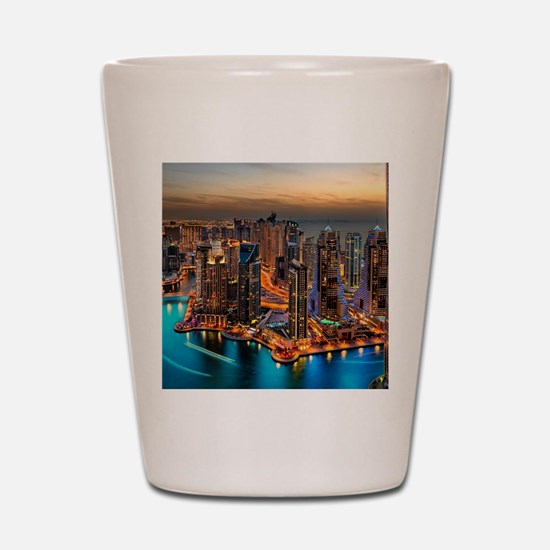 Dubai Skyline Shot Glass