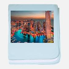 Dubai Skyline baby blanket
