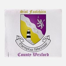 Siol Faolchain - County Wexford Throw Blanket