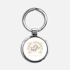Get Hopped Round Keychain