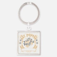Get Hopped Square Keychain