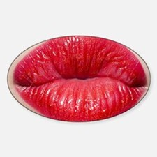 Red Lips Kiss Decal