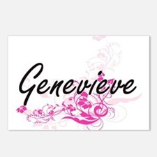 Genevieve Artistic Name D Postcards (Package of 8)