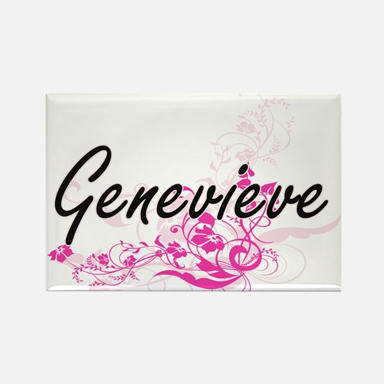 Genevieve Artistic Name Design with Flower Magnets