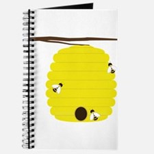 Beehive with 3 busy bees Journal