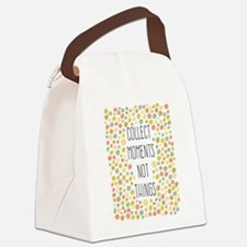Collect Moments Not Things Canvas Lunch Bag