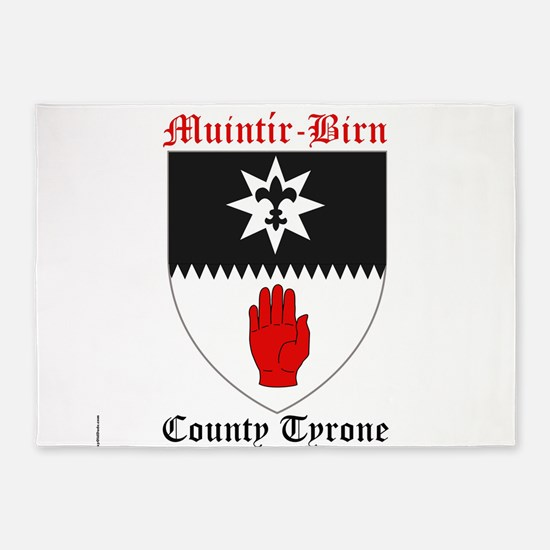 Muintir-Birn - County Tyrone 5'x7'Area Rug