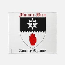 Muintir-Birn - County Tyrone Throw Blanket