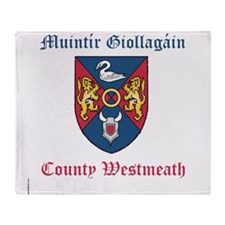 Muintir Giollagain - County Westmeath Throw Blanke