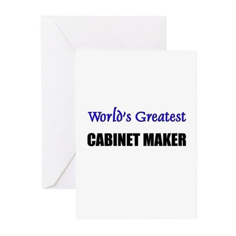 Worlds Greatest CABINET MAKER Greeting Cards (Pk o