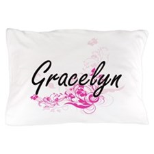 Gracelyn Artistic Name Design with Flo Pillow Case