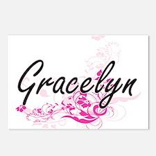 Gracelyn Artistic Name De Postcards (Package of 8)
