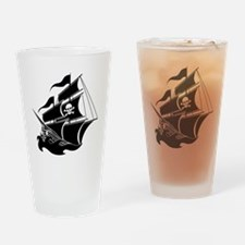 Pirate Ship Drinking Glass