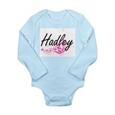 Hadley Artistic Name Design with Flowers Body Suit