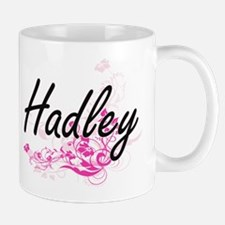 Hadley Artistic Name Design with Flower Mugs