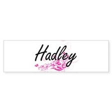 Hadley Artistic Name Design with Fl Bumper Bumper Sticker