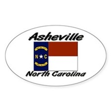 Asheville North Carolina Oval Decal