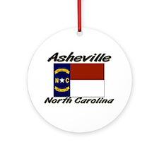 Asheville North Carolina Ornament (Round)