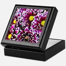 Purple, Pink, Dahlias Keepsake Box