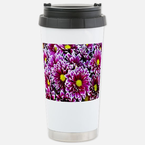Purple, Pink, Dahlias Travel Mug