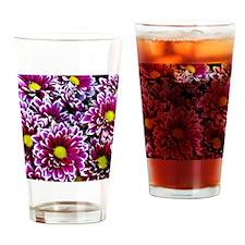 Purple, Pink, Dahlias Drinking Glass